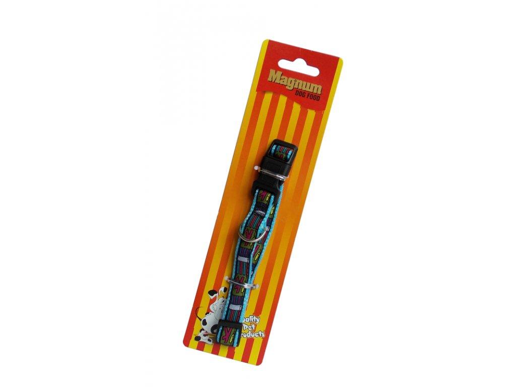 Obojek pro psy modrý 15mm x 25-40cm