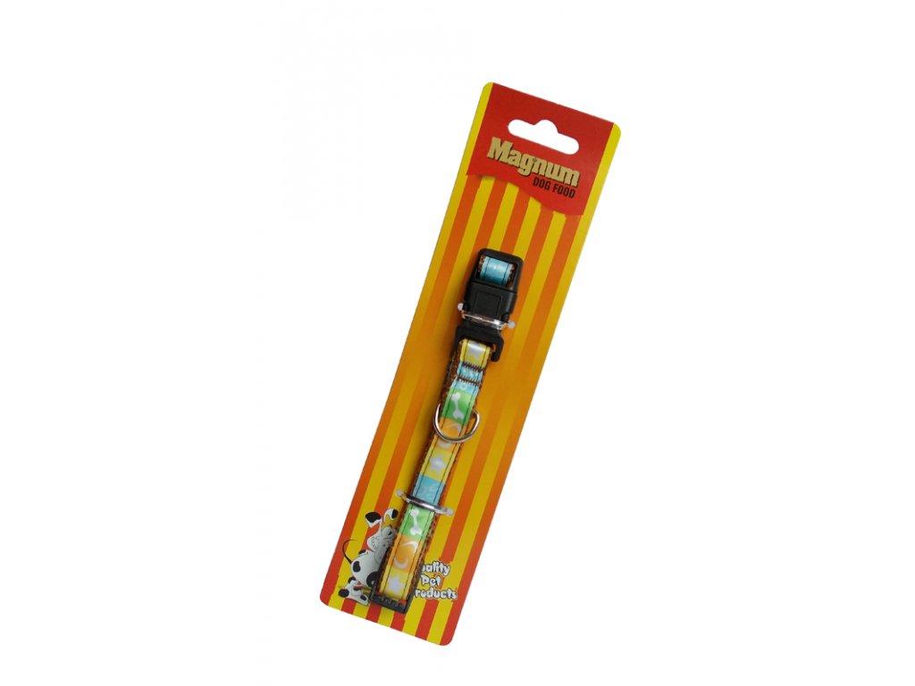 Obojek pro psy žlutý 15mm x 25-40cm