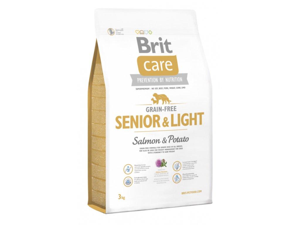 Brit Care Grain-free Senior & Light Salmon & Potato 3kg
