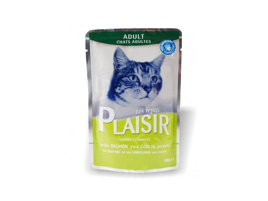 Plaisir Cat kapsička losos + treska 100g