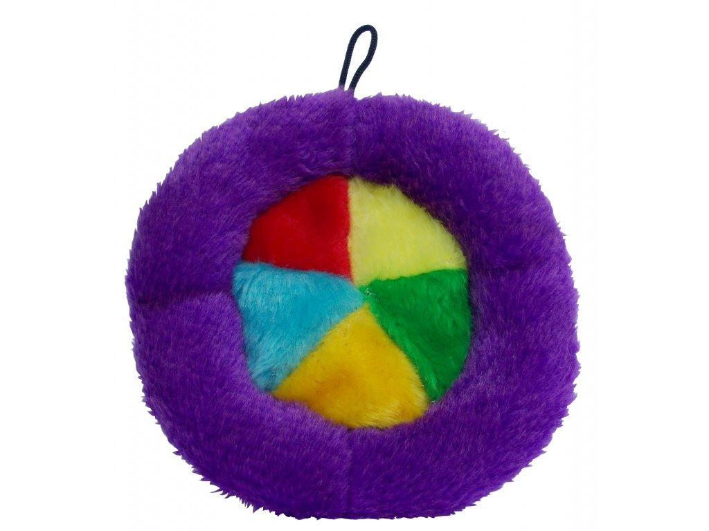 Plyšové Frisbee pískací malé 18cm