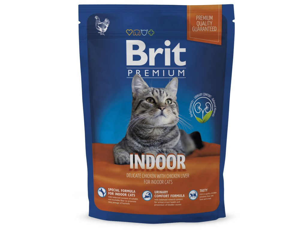 NEW Brit Premium Cat INDOOR 800g