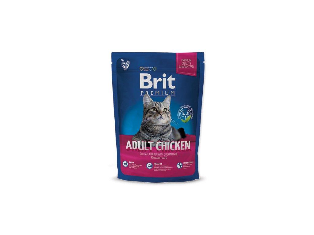 NEW Brit Premium Cat ADULT CHICKEN 800g
