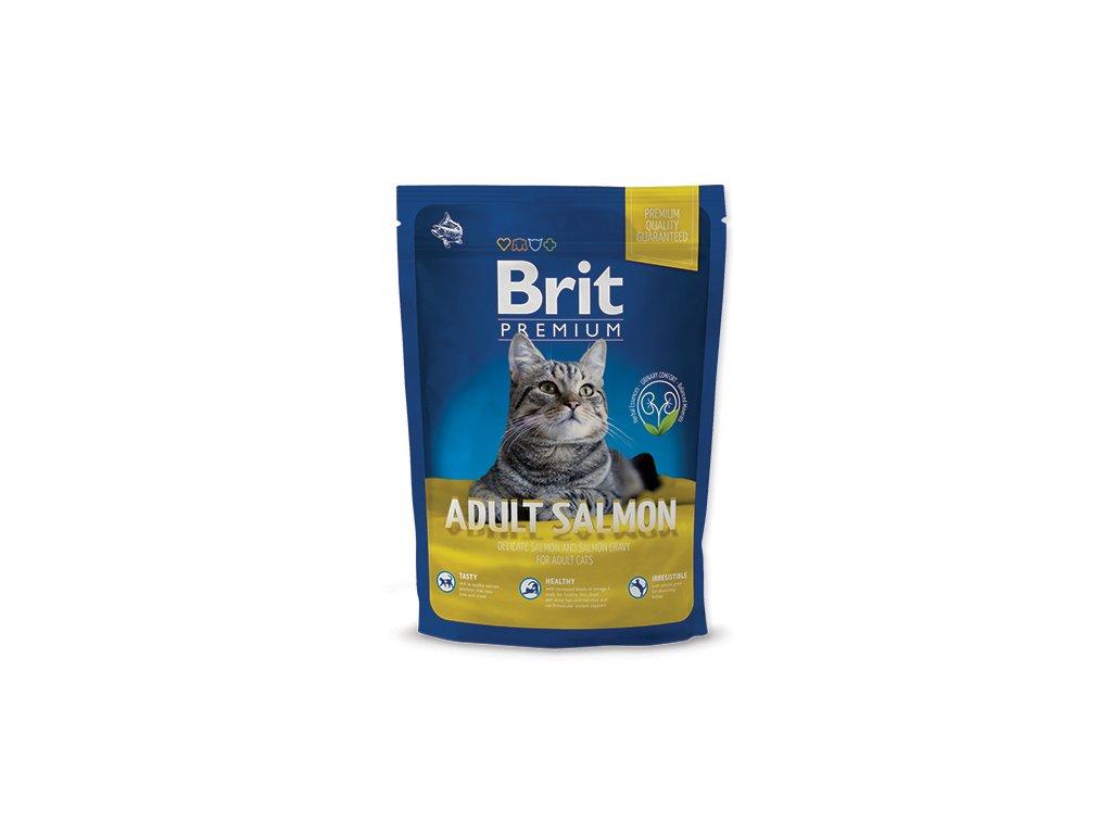 NEW Brit Premium Cat ADULT SALMON 800g