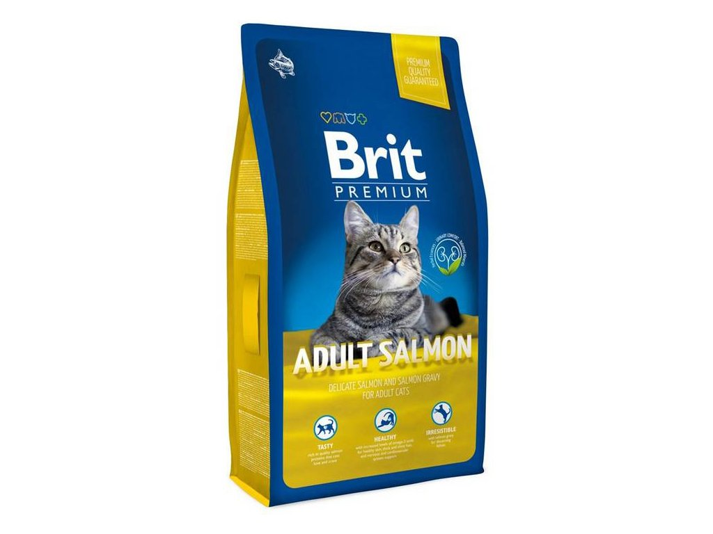 NEW Brit Premium Cat ADULT SALMON 1,5kg