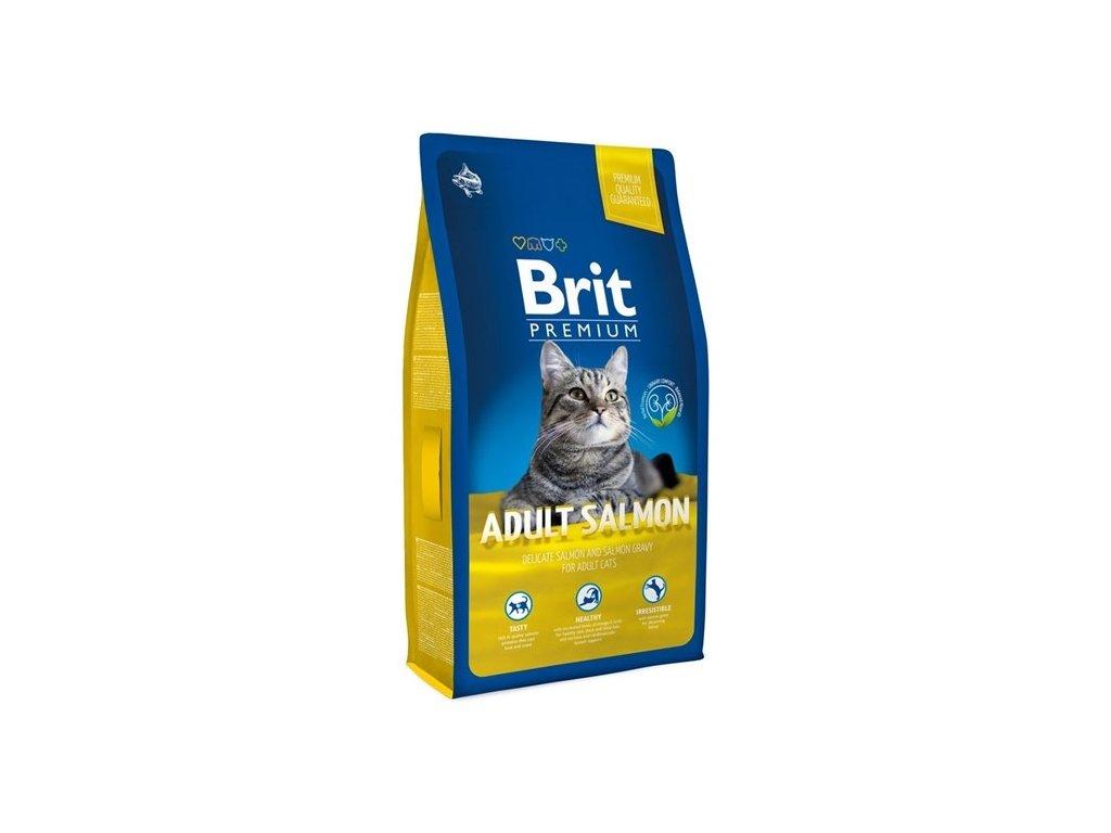 NEW Brit Premium Cat ADULT SALMON 8kg