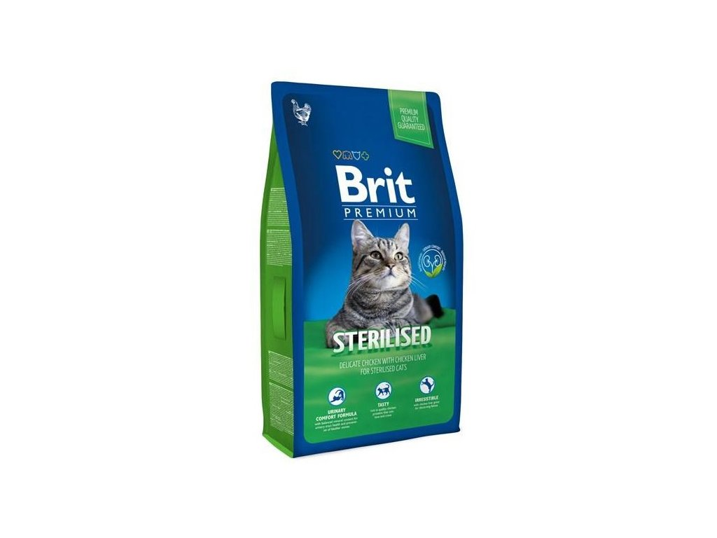 NEW Brit Premium Cat ADULT STERILISED 8kg