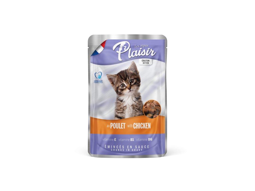 Plaisir Cat kapsička Kitten kuřecí 100g