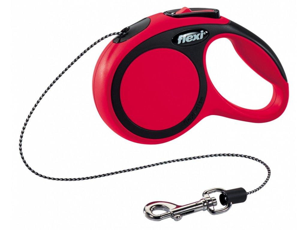 Vodítko Flexi Comfort XS 3m (max 8kg) lanko červená