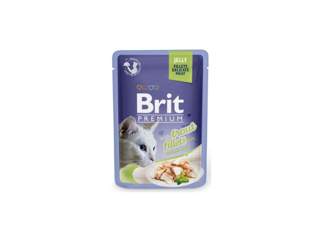 Brit Premium Cat Delicate Fillets in Jelly with Trout 85g