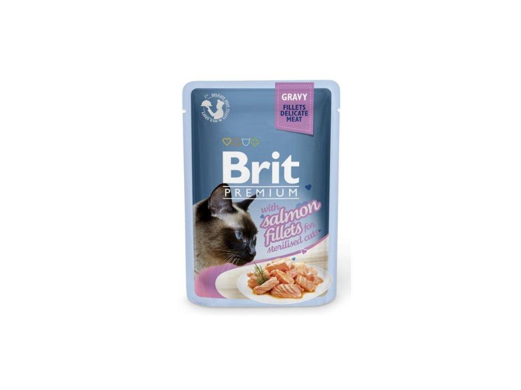 Brit Premium Cat Delicate Fillets in Gravy Salmon Sterillised 85g