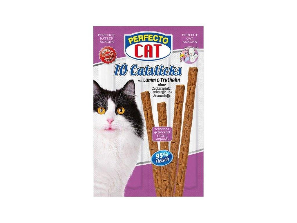 Perfecto Cat Masové tyčky jehně & krůta 50g (10ks)