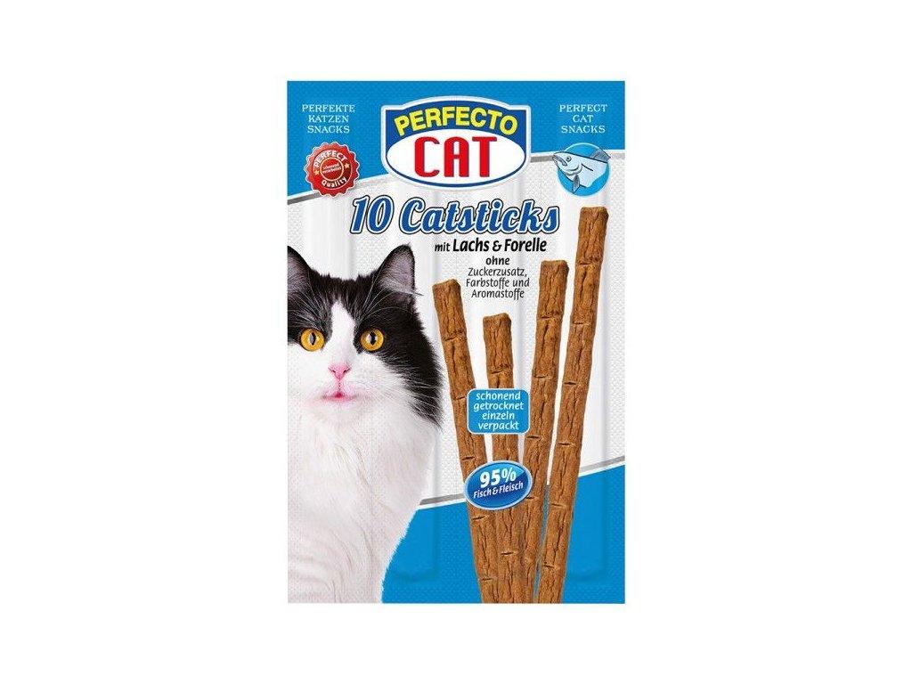 Perfecto Cat Masové tyčky losos & pstruh 50g (10ks)