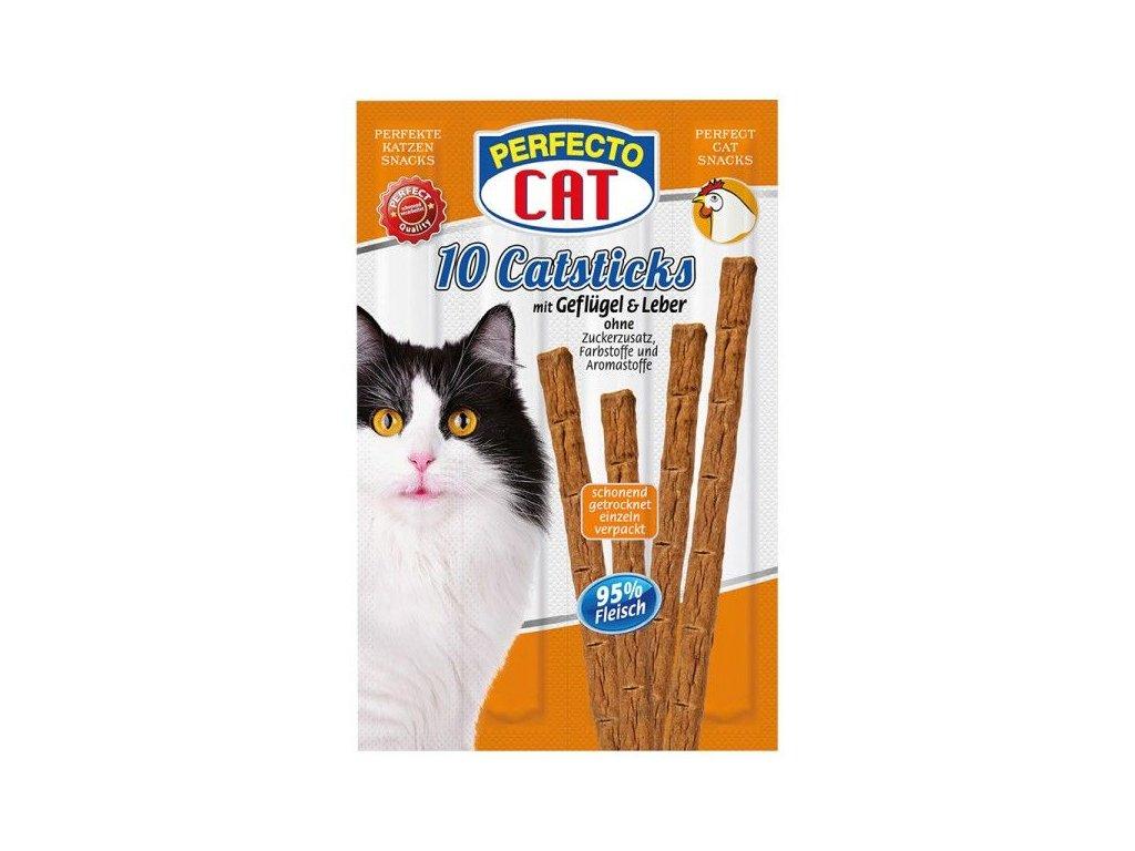 Perfecto Cat Masové tyčky játra & drůbeží 50g 10ks