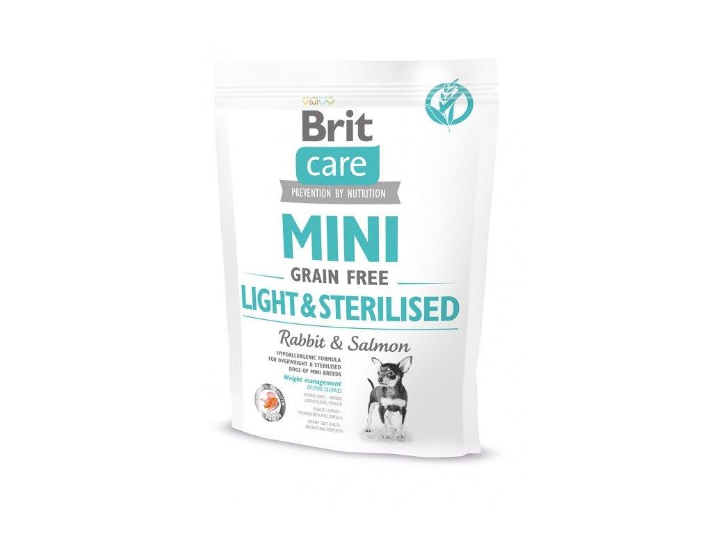 Brit Care MINI Grain Free Light & Sterilised 400g