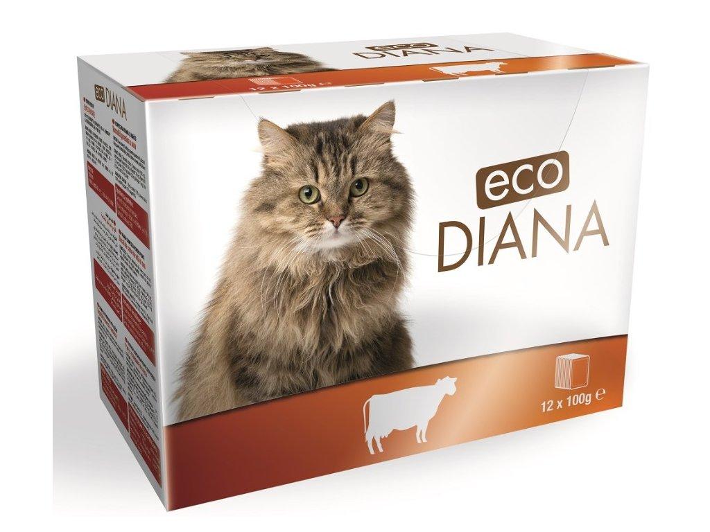 Diana eco kapsičky hovězí kousky v omáčce 12x100g