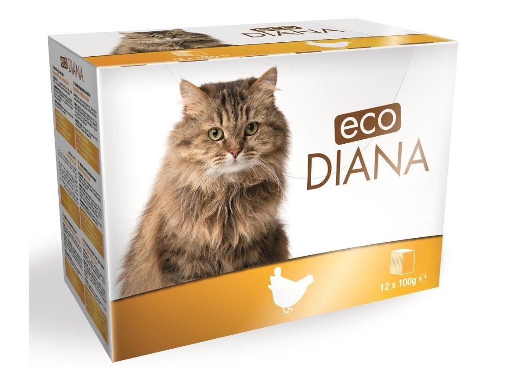 Diana eco kapsičky kuřecí kousky v omáčce 12x100g