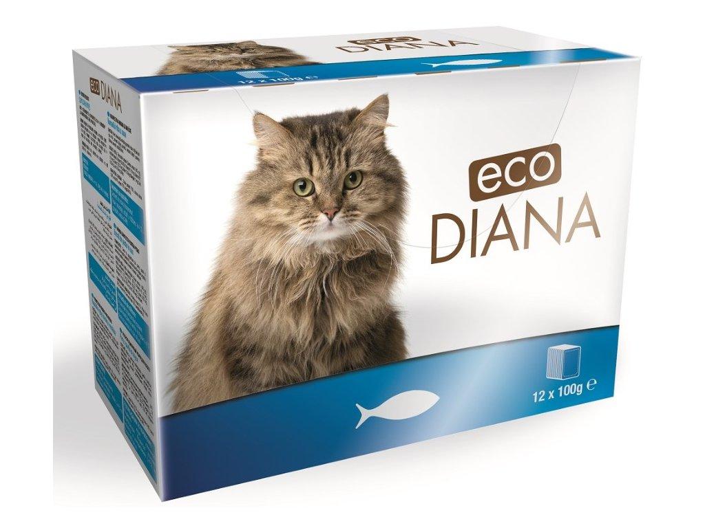Diana eco kapsičky rybí kousky v omáčce 12x100g