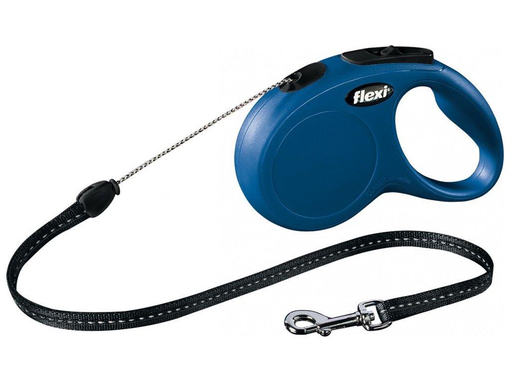 Vodítko Flexi Classic S 5m (max 12kg) lanko modrá