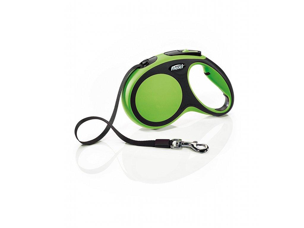 Vodítko Flexi Comfort XS 3m (max 12kg) pásek zelený