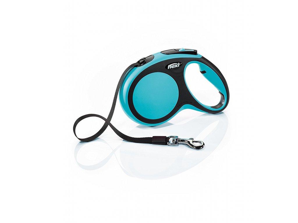 Vodítko Flexi Comfort XS 3m (max 12kg) pásek modrá