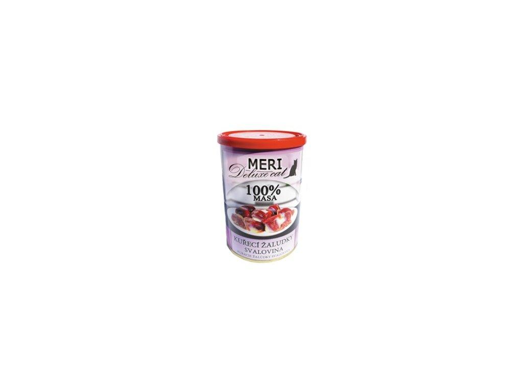 MERI CAT deluxe kuřecí žaludky - svalovina 400g