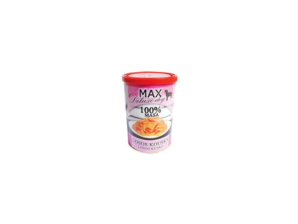 MAX deluxe losos kousky 400g