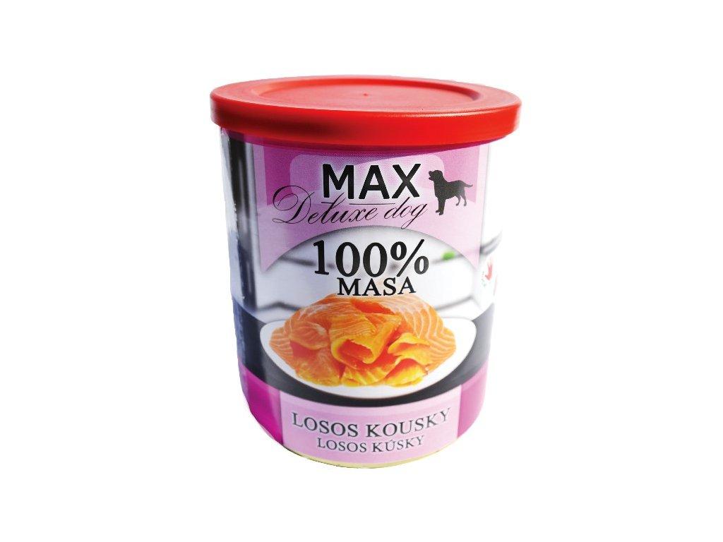 MAX deluxe losos kousky 800g