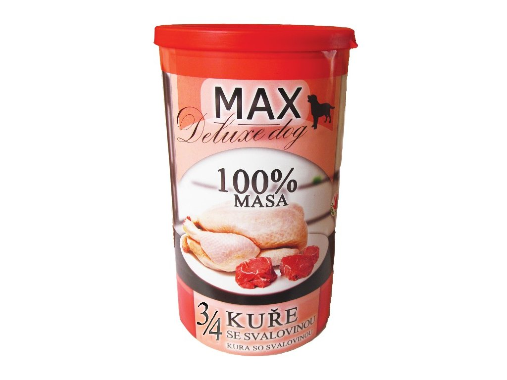 MAX deluxe 3/4 kuřete se svalovinou 1200g