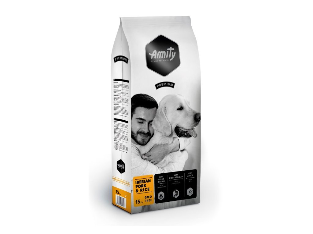 AMITY premium dog IBERIAN Pork & Rice 15kg | Tenesco.cz