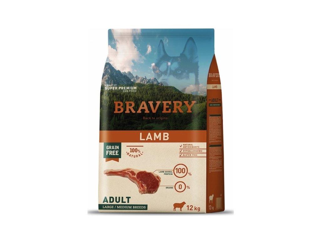 BRAVERY dog ADULT Large / Medium Grain Free lamb 12kg | Tenesco.cz