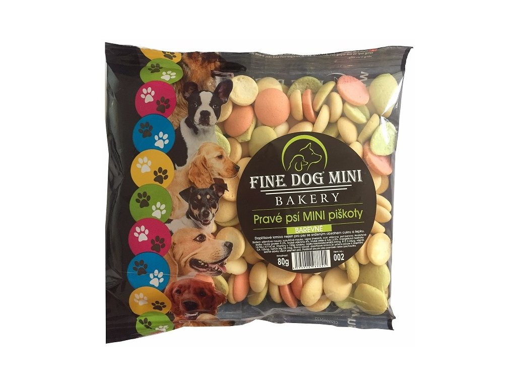 Fine Dog MINI Piškoty barevné 80g