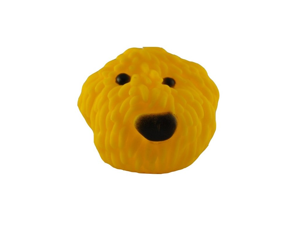 Vinyl Pes 8cm žlutý