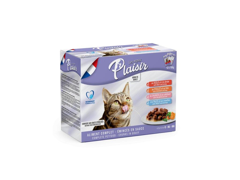 Plaisir Cat kapsičky MULTIPACK 12x100g