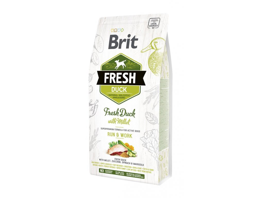Brit Fresh Duck & Millet Active Run & Work 2,5kg