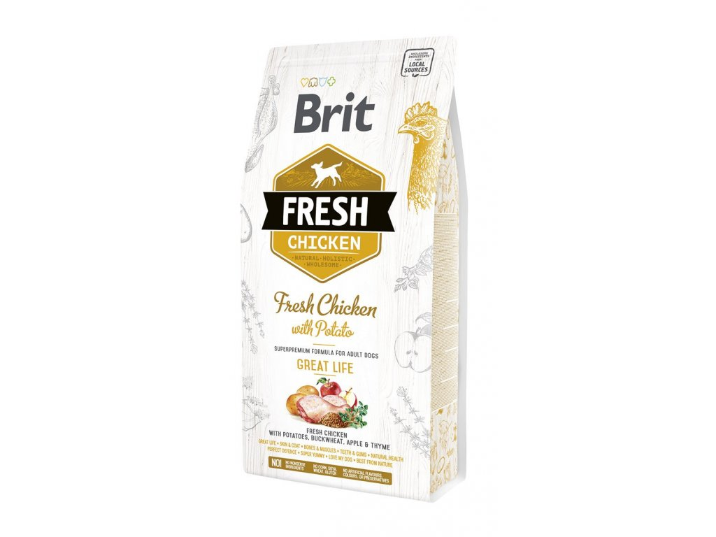 Brit Fresh Chicken & Potato Adult Great Life 2,5kg