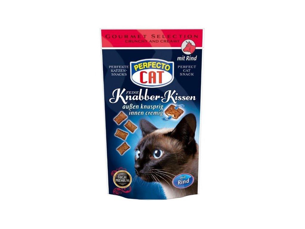 Perfecto Cat plněné polštářky s hovězím 50g