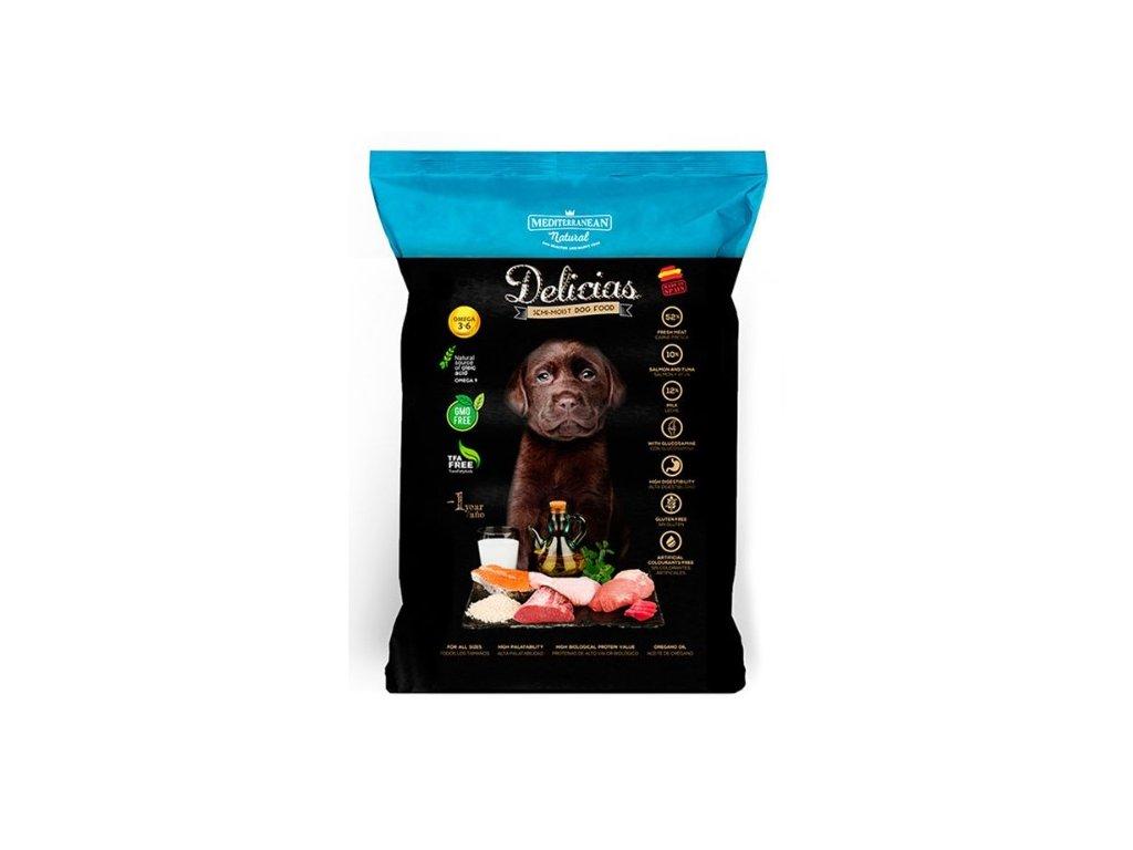 Mediterranean Delicias - polovlhké krmivo štěně 800g