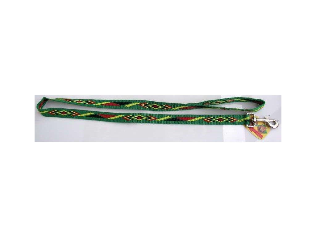 Vodítko nylon indiánský vzor 25mm x 120cm