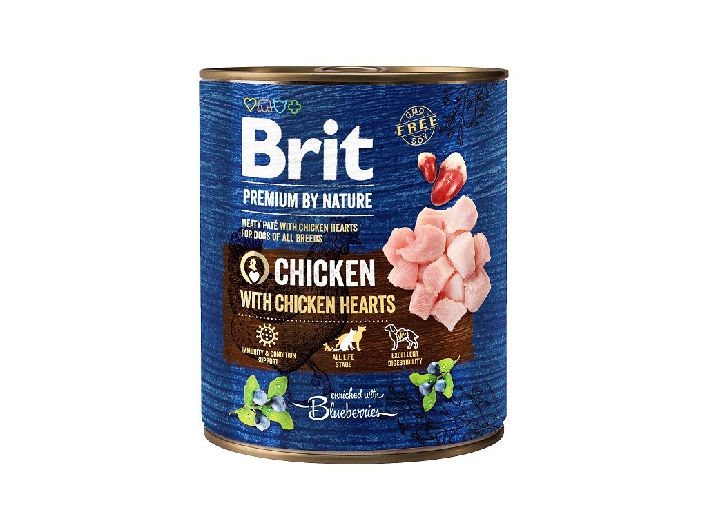 Brit Premium by Nature Chicken with Hearts 800g