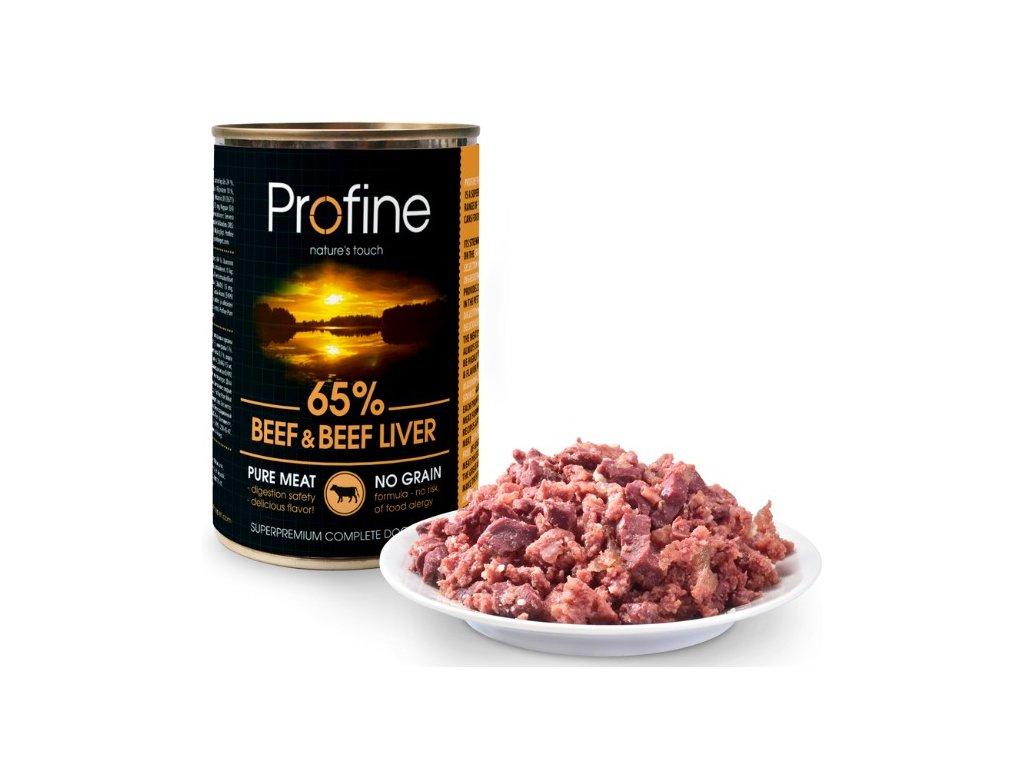 Profine Pure meat Beef & Beef Liver 400g 5+1 ZDARMA