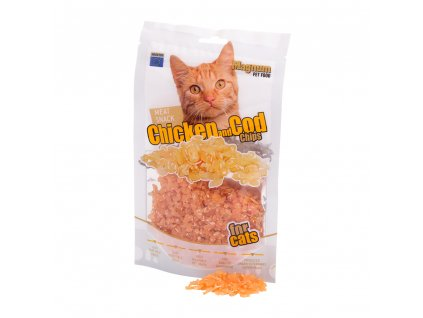 Magnum chicken & cod chips for cats 70g 12+2 ZDARMA