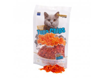 Magnum Tuna chips for cats 70g 12+2 ZDARMA