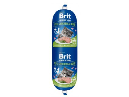 Brit Premium Sausage CAT Chicken & Duck 180g
