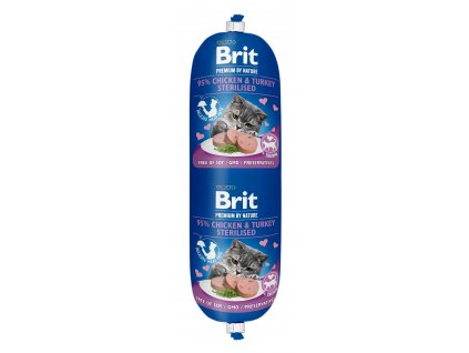 Brit Premium Sausage CAT Chicken & Turkey Sterilised 180g