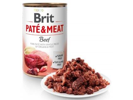Brit Paté & Meat Beef 400g 5+1 ZDARMA