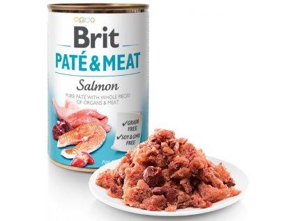 Brit Paté & Meat Salmon 400g 5+1 ZDARMA