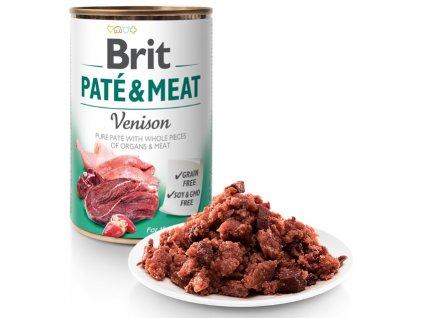 Brit Paté & Meat Venison 400g 5+1 ZDARMA