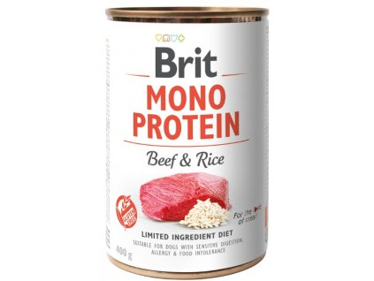 Brit Mono Protein Beef & Brown Rice 400g 3+1 ZDARMA