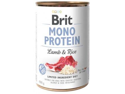 Brit Mono Protein Lamb & Rice 400g 5+1 ZDARMA